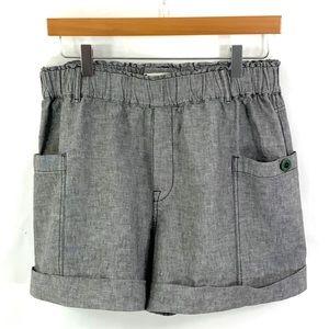 HEI HEI ANTHROPOLOGIE Pull-On Brown Tweed Shorts M